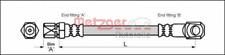 Bremsschlauch für Bremsanlage Vorderachse METZGER 4117018