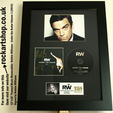 Robbie Williams SIGNED Under the Radar CD AUTOGRAPHED Framed WorldShip TAKE THAT