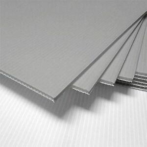 "SILVER Corrugated Plastic 18"" x 24"" 4mm Coroplast yard signs blank PACK OF 25-"