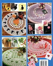 Table Toppers w/ Matching Motifs~Annies Thread Crochet Pattern Book~See Pics~New