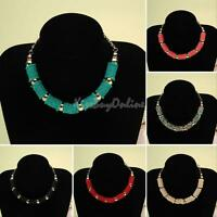 Fashion Lady Jewelry Pendant Crystal Choker Chunky Bib Statement Necklace Collar
