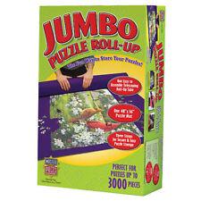 "MasterPieces Jumbo Roll Up Mat Jigsaw Puzzle Mat Storage Tube 48"" x 36"" 3000pc"