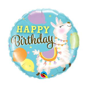 "LLAMA HAPPY BIRTHDAY FOIL BALLOON - 18"" - HELIUM OR AIR FILL"
