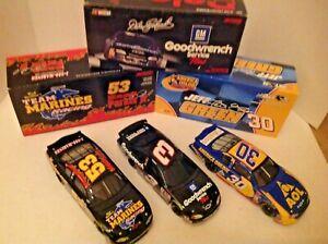 NASCAR DIECAST 1/24. 3 VINTAGE ACTION CARS--BANKS ---SOLD IN A LOT