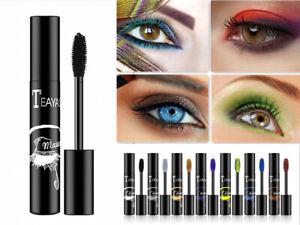 Colored 4D Silk Fiber Eyelash Mascara Extension Makeup Waterproof Eye Lashe Sale