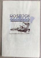 Rostock Stadtansicht Entwurf Wilhelm Pieck SED 17 x 25 DDR