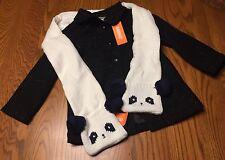Gymboree NWT 4T 5T Party Plaid Sparkle coat new Black Holiday Dressy Panda Scarf
