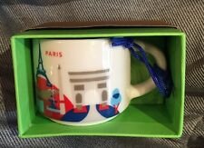 Starbucks Paris YAH Ornament Mug France Demi You Are Here Christmas Coffee Cup