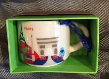 Starbucks Paris YAH Ornament Mug France Demi You Are Here Christmas Coffee Cup