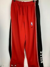 Nike Team Vintage Men's Chicago Bulls Snap Down Warm-Up Pants RED Size 2XL #84