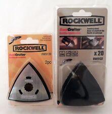 ROCKWELL SONICRAFTER 2PC SANDING PAD & 20PC SANDING SHEET 220 GRIT RW9139 RW9137