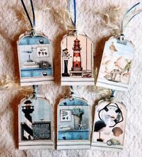 Set of 6 Hang Tags~Seaside Memories~Gift Tags~Scrapbooking~Card Making~#30R