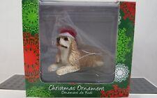 Sandicast Cocker Spaniel Buff Christmas Ornament