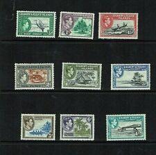 Gilbert & Ellice Is: 1939, King George VI defintive, short set to 1/-  Mint