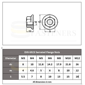Serrated Nuts M3 M4 M5 M6 M8 M10 M12 STAINLESS STEEL Excellent Quality