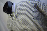 29285 Mens Polo Ralph Lauren Yarmouth Striped Dress Shirt Size 16 34 Large