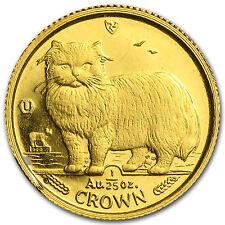 1989 Isle of Man 1/25 oz Gold Persian Cat - SKU #35694