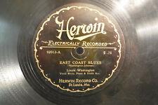 "Lizzie Washington, East Coast Blues / Working Man, Herwin 92013,1927 10"" 78 RPM"