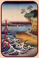Küste von Japan Blechschild Schild gewölbt Metal Tin Sign 20x30cm CC0397