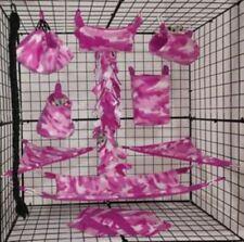 Pink Camo*15 Pc Sugar Glider Cage set * Rat * double layer Fleece