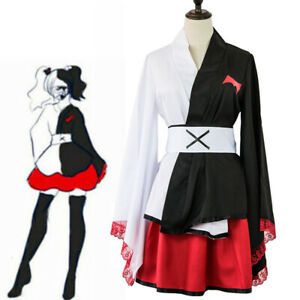 Danganronpa Monokuma cosplay pinafores kimono female Dresses cosplay csotume