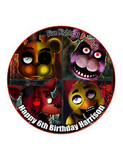 FIVE NIGHTS AT FREDDY'S Cake Image Personalised Birthday Decoration Party Topper