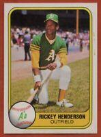 1981 Fleer #574 Rickey Henderson NEAR MINT MARKED Oakland A's FREE SHIPPING