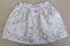 JOHN LEWIS Girls Metallic Gold Spotty Skirt Zip Fasten Cotton Polyester 8 Years