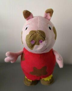 "Peppa Pig Jump in Muddy Puddles Peppa Interactive Toy 12"" Jumping Talking Plush"