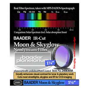 "Baader 1.25"" Neodymium Moon & Skyglow Filter with IR Cut # FMS-1  # 2458305A"