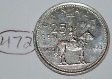 Canada 1973 25 cents Canadian Mountie Quarter Coin Lot #472