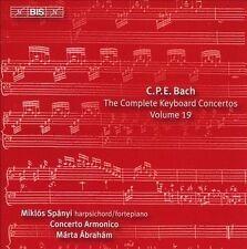 Bach: Keyboard Concertos Vol. 19 [Miklós Spányi; Concerto Armonico ] [Bis: Bis19