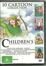 10 CHILDREN'S CARTOON STORIES COLLECTION on 4  DVD's includes CINDERELLA - MULAN