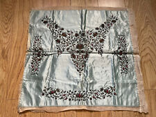 More details for antique victorian hand embroidered unused dress collar & cuffs metal threads