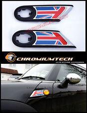 MK2 MINI Cooper/S/ONE R55 R56 R57 R58 R59 Union Jack Chrome Side Lamp Scuttles