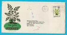 Jersey Wild Flowers FDC Posted to New Zealand 1972