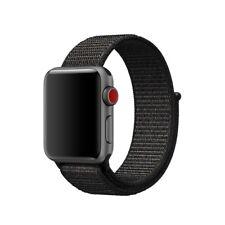 Apple Watch Pulsera Correa Banda Bracelet Band nato Nylon 42MM NEGRA STRAP NATO