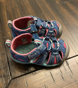 KEEN Seacamp ll CNX Blue Berry Red Pink Toddler Girls Sandals Shoes Size 5