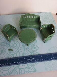 "Antique Doll House miniature German Korbi ""Wicker"" Furniture TLC1920s 1:12 Scale"