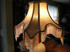 "Victorian French Large Floor Table Lamp Shade ""Elegance"" Beads Fringe Tassels"
