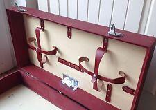 Vintage Sirram Red Wooden Picnic Hamper Box Mid Century 1950's/60's Retro Camper