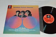 BARENBOIM/PERLMAN/ZUKERMAN Bach Double Concerto in D Minor LP EMI Angel 1972 NM
