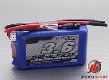 Turnigy 3600mAh 2S 7.4V 12C Lipo Battery Receiver Rx Pack JR Futaba Plug