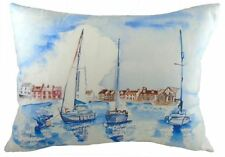 EVANS LICHFIELD SEA LAKE YACHT BOATS MADE IN UK BLUE CUSHION COVER 43 X 33CM