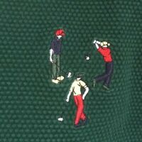 Pivot Rules Mens M Golf Vest Embroidered  Golfers on the chest Poly Cotton Green