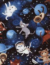 Space Cats Patchworkstoffe Stoffe Kinderstoffe Patchwork Katzen Baumwollstoffe