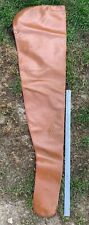 Vintage Leather Rifle Carrying Case Sleeve - Brown