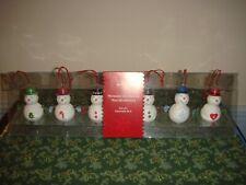 Hallmark Miniature Snowman Ornaments Set Of 6