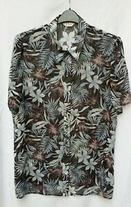 Elvi Womens Chiffon Floral Top Size UK 18 Brown Floral Short Sleeved