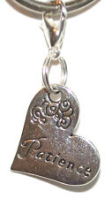 Silver Tone Love Heart 'Patience' Clip On Charms Pendant Free Gift Bag New